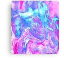 Melting Marble in Pink & Turquoise Canvas Print