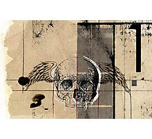 uno flying death Photographic Print
