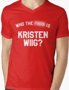 Who TF is Kristen Wiig? Mens V-Neck T-Shirt