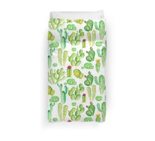 watercolor cactus Duvet Cover