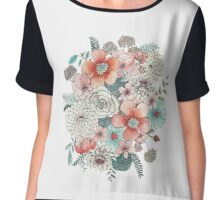 Floral Bouquet Chiffon Top