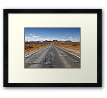 Road trip through Monument Valley Framed Print