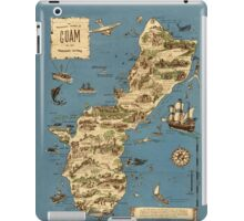 Vintage 1949 guam map - christmas gift for her iPad Case/Skin