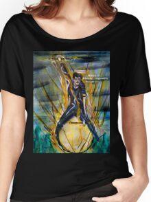 Nikola Tesla Riding The Light Bulb Women's Relaxed Fit T-Shirt
