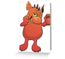 cool monster Greeting Card