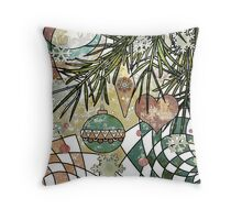 Card grunge new year . Throw Pillow