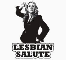Lesbian Salute - Kate McKinnon by slitheenplanet