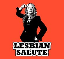 Lesbian Salute - Kate McKinnon Women's Fitted V-Neck T-Shirt