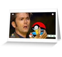 Doctor who and pokemon Greeting Card