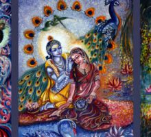 Radha Krishna - Divine Leela Sticker
