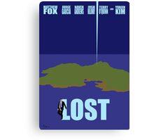 LOST minimialist poster Canvas Print