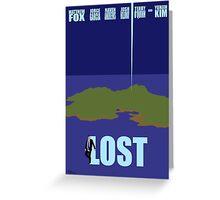 LOST minimialist poster Greeting Card