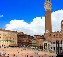 Piazza of Siena by Barbara  Brown
