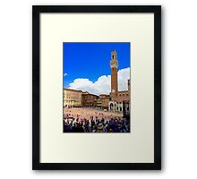 Piazza of Siena Framed Print