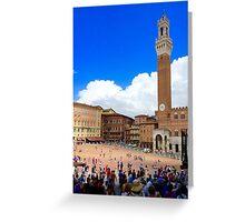 Piazza of Siena Greeting Card
