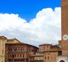 Piazza of Siena Sticker
