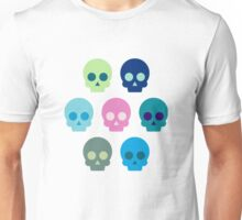Colorful Skull Cute Pattern Unisex T-Shirt