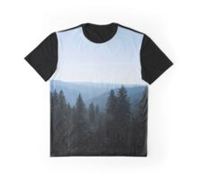 Photo of Scenic View of Tree Lined Valley Graphic T-Shirt