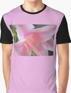 SOFT PINK LILY MACRO Graphic T-Shirt