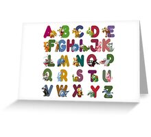 Cute and Cuddly Alphabet Greeting Card
