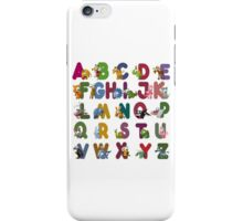 Cute and Cuddly Alphabet iPhone Case/Skin