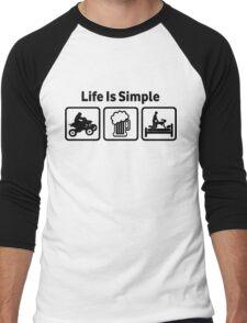 ATV Quadbike Funny T Shirt Men's Baseball ¾ T-Shirt