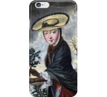 Allegory of December - Christmas iPhone Case/Skin
