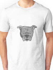 Angry Bulldog Head Cartoon Unisex T-Shirt