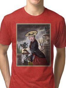 Allegory of December - Christmas Tri-blend T-Shirt
