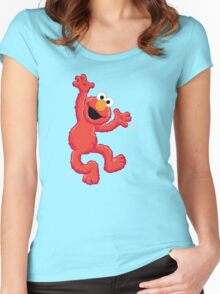 Elmo Happy Women's Fitted Scoop T-Shirt