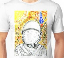 Cartoon Painted Astronaut 2 Unisex T-Shirt