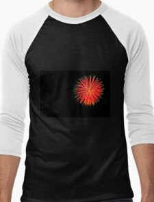 4th of July fireworks. Photographed in Studio City Los Angeles, California  Men's Baseball ¾ T-Shirt
