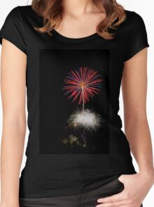 4th of July fireworks. Photographed in Studio City Los Angeles, California  Women's Fitted Scoop T-Shirt