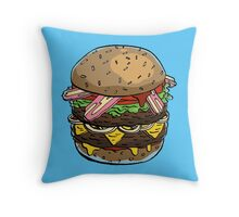 Eat Greasy Throw Pillow