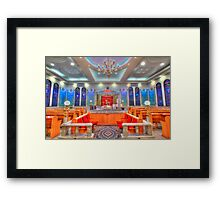 Interior of a synagogue - HDR Framed Print