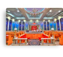 Interior of a synagogue - HDR Canvas Print