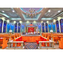 Interior of a synagogue - HDR Photographic Print