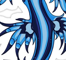 Exotic Nudibranch Glaucus Atlanticus Blue and White  Sticker