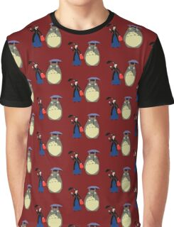 Mary Poppin and totoro umbrela Graphic T-Shirt