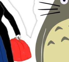 Mary Poppin and totoro umbrela Sticker