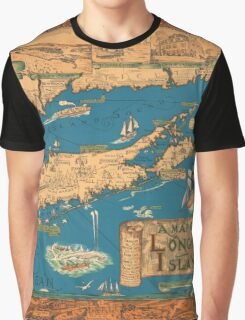 1953 Long Island map - special gift idea Graphic T-Shirt