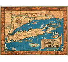1953 Long Island map - special gift idea Photographic Print