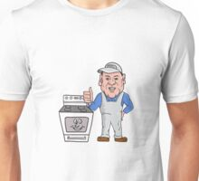 Oven Cleaner With Oven Thumbs Up Cartoon  Unisex T-Shirt