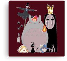 Studio Ghibli Gang Canvas Print