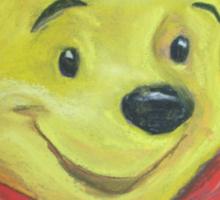 Winnie the Pooh - Blue Sticker