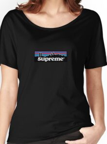 Supreme X Patagonia Logo Women's Relaxed Fit T-Shirt