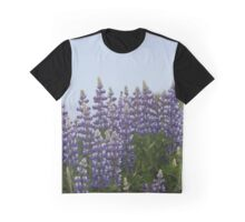 Lupine Flowers on a Cliffside Graphic T-Shirt
