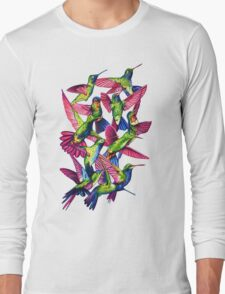 Hummingbird Dance in Sharpie Long Sleeve T-Shirt