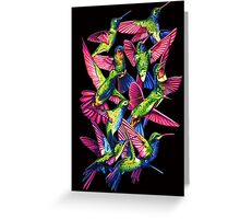 Hummingbird Dance in Sharpie Greeting Card