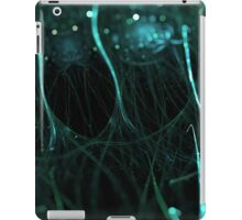 beautiful particle abstract background with bokeh effect iPad Case/Skin